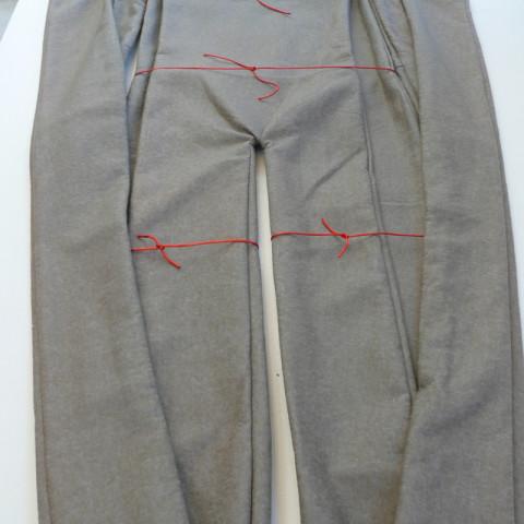 GISANTS - Feltro e cordoncino rosso, circa 280x100 cm appesi a grucce