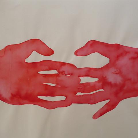 DANS LA CHAMBRE ROUGE - Inchiostro su carta, 32x42 cm | 2013