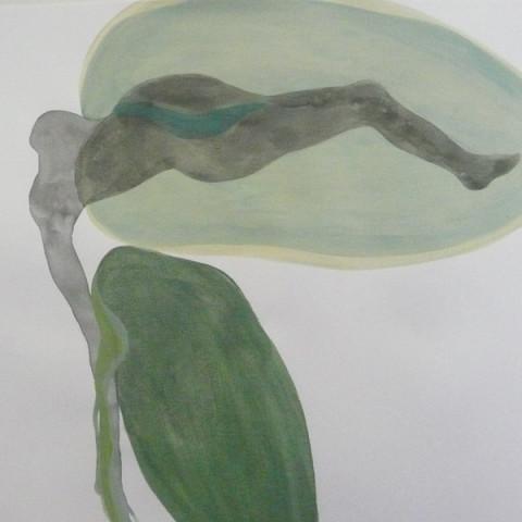 SI LE GRAIN NE MEURT, 2015 - Inchiostro di China e pittura acrilica su carta (30X42 cm)