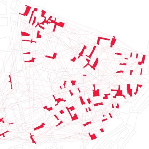 Cortile/Curtigghiu - La forma della città. Mappa (70x100 cm aperta).