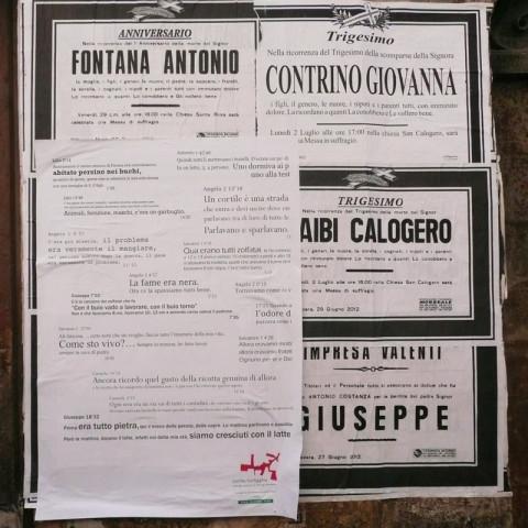Cortile/Curtigghiu - La forma della città. Manifesti per strada (Ph. Nadia Castronovo).