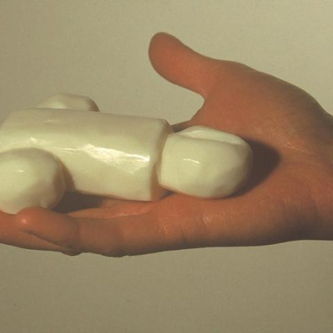 À mon seul desir - Mille e tre, 1994. 40 savons sculptés dans sachets de cellophane o scatole di plexiglass (13x17,5x5 cm cad.).