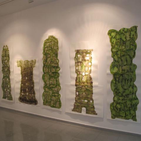 Quoi de nouveau sous le soleil? - Torri/rovine, 2009. Disegni all'inchiostro Ecoline su carta Murillo (dimensioni variabili).