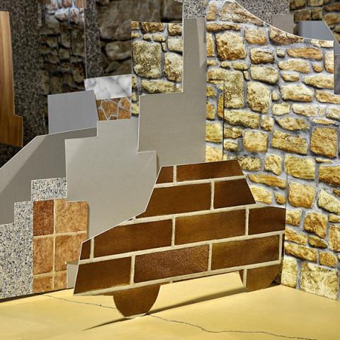 Quoi de nouveau sous le soleil? - Villinomania 2, 2008. Sagome di cartoncino ad incastro, decoro adesivo in vinile. Installazione in situ. Ph. Giulio Azzarello.