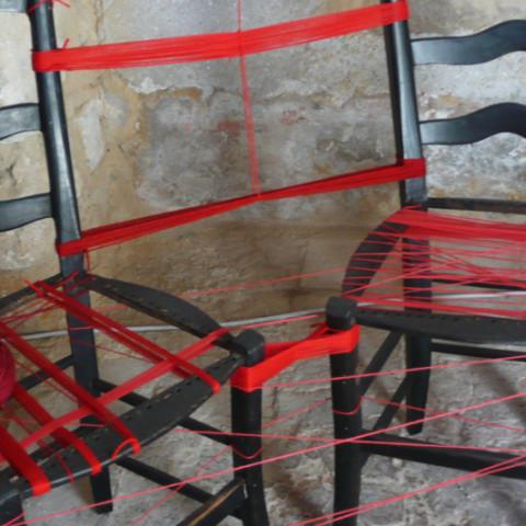 Cortile/Curtigghiu - Un telaio della memoria collettiva. Installazione in situ.