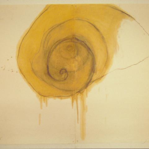 Fruits de mer, 1991. Grafite, pastelli a cera, olio su carta (70x100 cm).