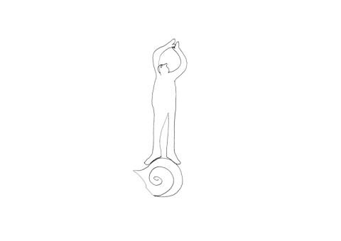Sette giorni nella vita di un uomo-lumaca, 2006/15. Prova di animazione in collaborazione con Maria Fontana.